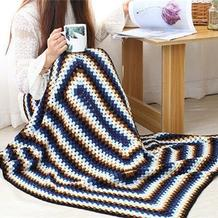 LOMO毯子 从中心钩起的经典钩针祖母方格毯编织视频教程