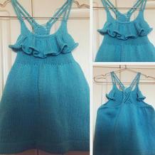 小七吊带连衣裙 手工编织宝宝棒针吊带裙