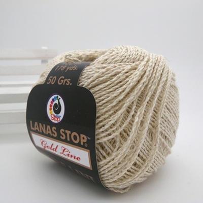 LANAS STOP PURE LINI纯麻 西班牙进口蕾丝夏季毛线纯麻钩织线