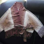 提拉米苏蛋糕线编织女士钩针流苏开衫