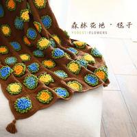 森林花地毯子(2-2)钩针拼花毯编织视频教程