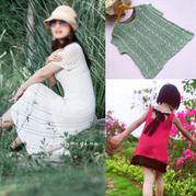 202024期周热门兴旺xw115作品:钩织女士裙装与儿童毛衣15款
