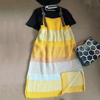 花海 丰富色彩女士棒针长款背带裙 (第十届编织大赛作品)