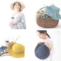 2款夏日清新女士钩针遮阳帽编织图解(附加定型线的方法)