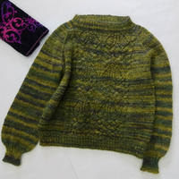 綠野仙蹤 喵夫人驚蟄從上往下織女士棒針馬海毛衣