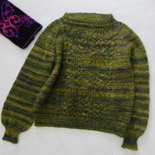 绿野仙踪 喵夫人惊蛰从上往下织女士棒针马海毛衣