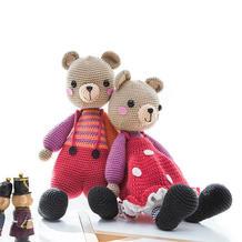 糖果森林熊(2-1)萌趣钩针小熊玩偶编织视频