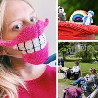 疫情下的毛线编织生活 温暖有爱也有创意