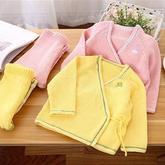 和尚服长袖开衫套装(2-2)裤子织法 儿童棒针毛衣视频教程