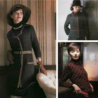 3款知性优雅女士棒针OL风格开衫外套图解