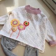 棒棒糖 从领口往下织棒针宝宝休闲衫