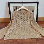 百鳥吟 驚蟄夏至合股編織淘寶款女士棒針直身套頭毛衣