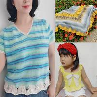 202026期周热门编织作品:春夏女士儿童手工编织服饰6款