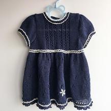 公主裙 毛线球款儿童棒针短袖连衣裙