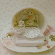 喝下午茶的小老鼠 轻松几步就可以完成的手工迷你场景