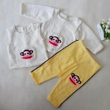 大嘴猴反穿衣套装-左后片的织法 宝宝毛衣编织视频教程