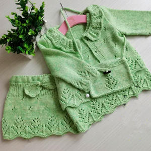 童趣 手工编织棒针女童四件套(第十届编织大赛作品)