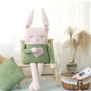 可爱兔子抱枕(2-1)钩针玩偶毛线编织diy视频教程