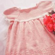 甜美可人樱粉色小公主 喵夫人小满儿童棒针公主裙