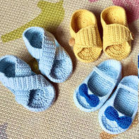 超级可爱的手工编织宝宝钩针凉鞋