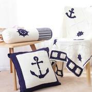 地中海(3-2)方形抱枕钩针编织视频教程