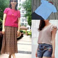 202028期周热门编织作品:春夏女士儿童手工编织服饰8款