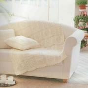 柔美棒针方块拼花抱枕与毯子编织图解