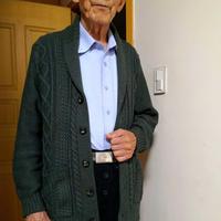 中老年男士棒针青果领开衫(第十届编织大赛作品)
