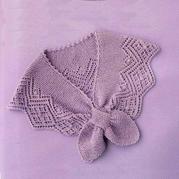 蕾丝边蝴蝶领巾 女士棒针交叉式围脖围巾