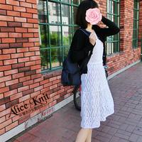 月瑶 文艺范儿女士钩针大裙摆小白裙(胸围90到120都能穿)