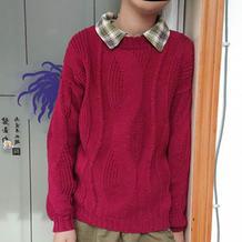 临秀 男童棒针长袖套头毛衣