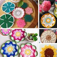 多姿多彩装点居家 手工编织彩色毛线钩针杯垫7款