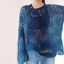 怎么织都好看的经典棒针棕榈花毛衣