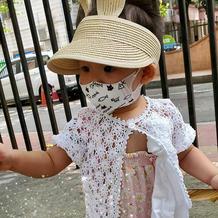 2岁女童吊带外披 宝宝钩针短袖小开衫