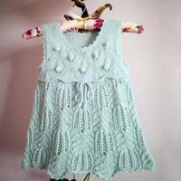 儿童棒针棕榈花背心裙