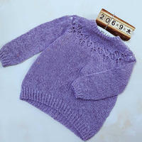 卡琳娜 从上往下织宝宝棒针育克镂空花套头毛衣