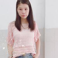 女士钩针夏日清爽亚麻镂空罩衫