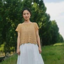 奶油曲奇 适合新手或追剧编织的女士棒针套衫