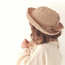 非常方便调节大小的别致钩针童帽