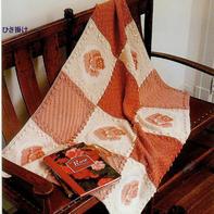 温暖有爱手编玫瑰嵌花图案棒针拼花毯
