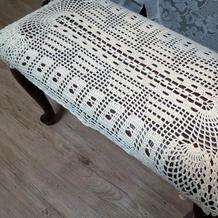 纯美钩针蕾丝钢琴椅罩