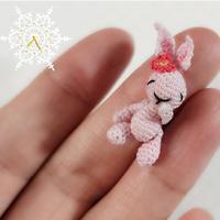 1股绣花线微钩钩针兔子玩偶