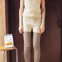 手工编织女士棒针毛线短裤编织图解