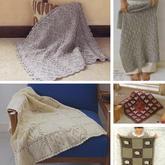 5款温暖有爱棒针毛线毯编织图解