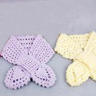 非常有立体感的经典蝴蝶叶子领结式小围巾编织视频教程