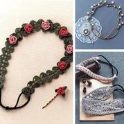 三款风格迥异的钩针发带及发夹 适合不同年龄层的仙女们喔