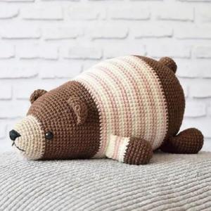 憨憨熊 送周岁宝宝的钩针玩偶礼物