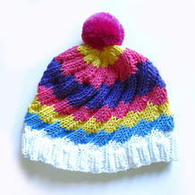 漩涡帽 宝宝成人都适合的欧美图解翻译款棒针帽子