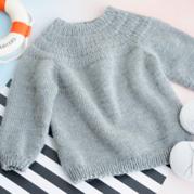 安加毛衣(2-1)從上往下兒童棒針圓肩毛衣視頻教程