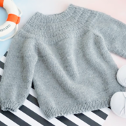 安加毛衣(2-2)從上往下兒童棒針圓肩毛衣視頻教程
